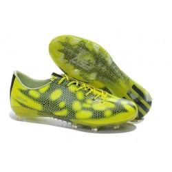 Nouveau Crampous Foot Adidas F50 Adizero Messi TRX FG Homme Jaune Noir