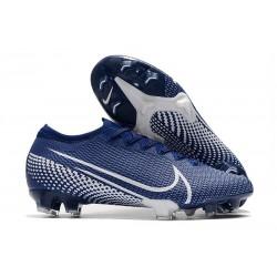 Nike Mercurial Vapor 13 Elite FG ACC Crampons Bleu Blanc