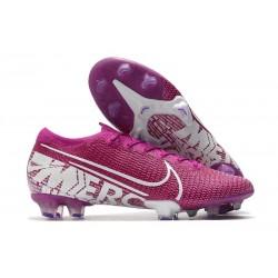Nike Mercurial Vapor 13 Elite FG ACC Crampons Violet Blanc
