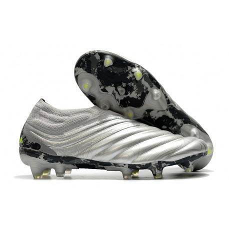 Chaussures Foot adidas Copa 20+ FG -Argent Jaune Solaire