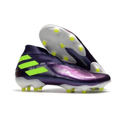 Adidas Chaussure de Foot Nemeziz 19+ FG Viola Jaune