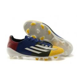 Chaussures de Foot Adidas F50 adizero Messi FG Orange Blanc Vert