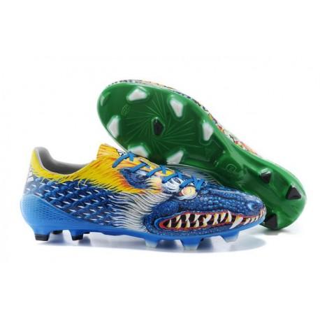Chaussures de Foot Adidas F50 adizero FG Yamamoto Bleu Vert