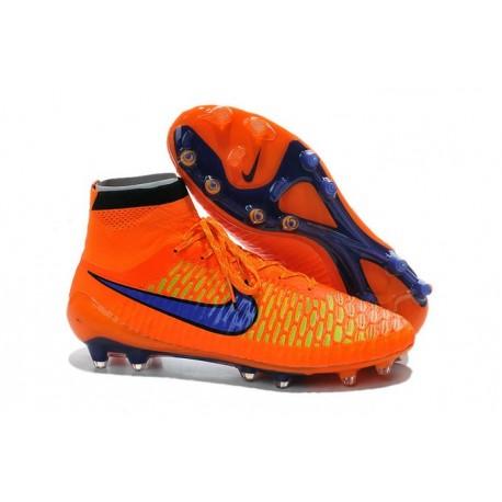 Nouvelle Homme Cramspon de Foot Nike Magista Obra FG Orange Violet