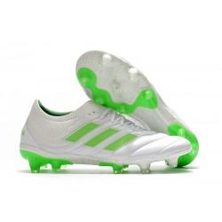 Chaussures de Football pour Hommes Adidas Copa 19.1 FG Blanc Vert