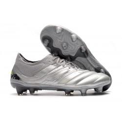 Chaussures de Football pour Adidas Copa 19.1 FG Argent Jaune Solaire