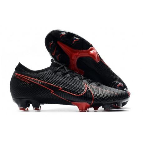 Nike Mercurial Vapor 13 Elite FG ACC Crampons Noir Rouge