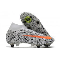 Nike Mercurial Superfly 7 Elite DF SG CR7 Safari-Blanc Orange Noir