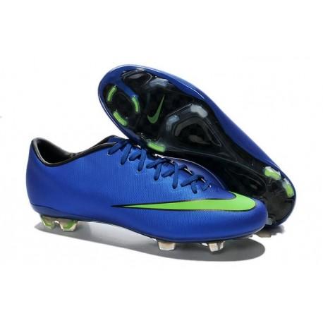 Chaussures de Football Nike Mercurial Vapor 10 FG Bleu Vert
