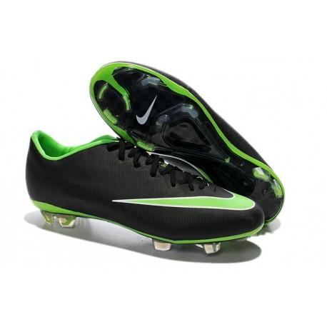 2014 Crampons de Foot Nike Mercurial Vapor X FG Homme Noir Vert
