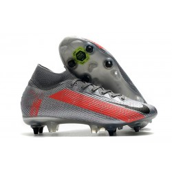 Nike Mercurial Superfly 7 Elite DF SG Neighbourhood - Gris Noir