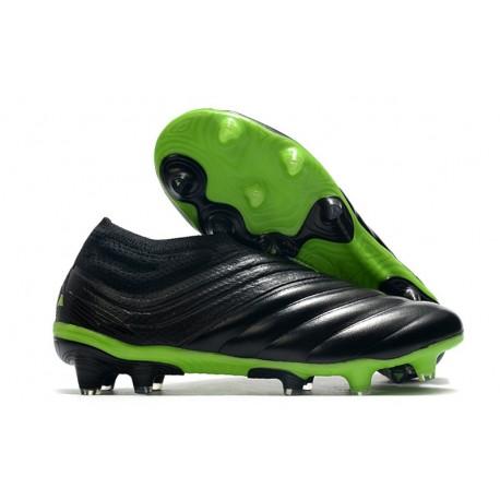 Chaussures Foot adidas Copa 20+ FG - Noir Vert signal