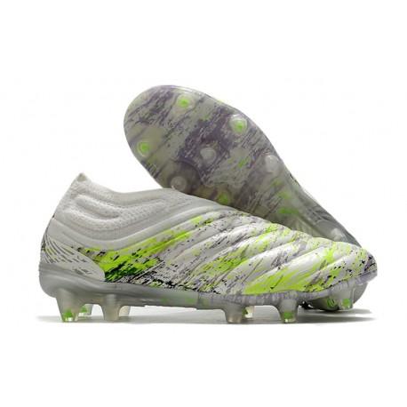 Chaussures Foot adidas Copa 20+ FG - Blanc Noir Vert