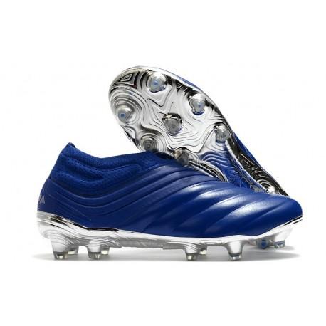 Chaussures Foot adidas Copa 20+ FG - Bleu Royal Argent