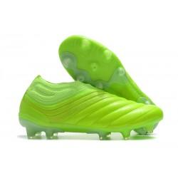 Chaussures Foot adidas Copa 20+ FG - Vert Blanc