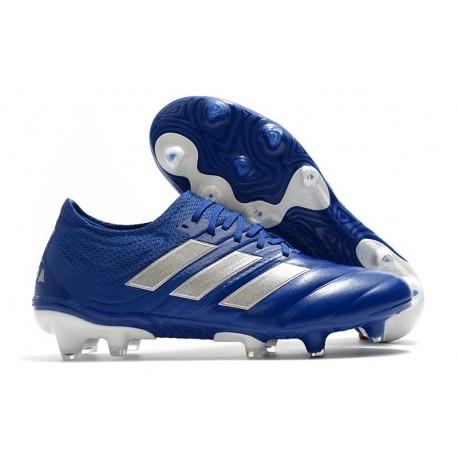 adidas Crampons Nouveau Copa 20.1 FG - Bleu Royal Argent