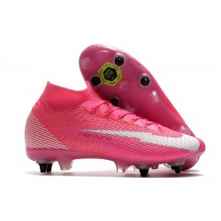 Nike Mercurial Superfly 7 Elite DF SG x Mbappe Rose Blanc Noir