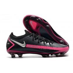 Nouvelle chaussure Phantom GT Elite FG de Nike - Noir Argent Rose
