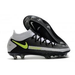 Crampons Nike Phantom GT Elite Dynamic Fit FG Noir Gris Vert