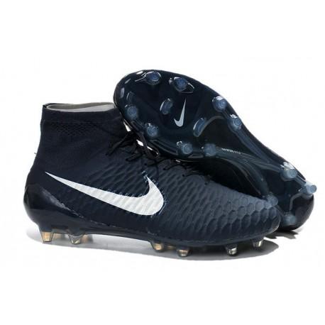 Coupe du Monde 2014 Chaussures Mercurial Magista Obra FG Bleu Marine Blanc