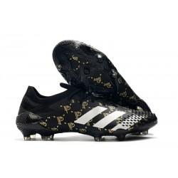 Crampons Adidas Predator Mutator 20.1 Low FG Paul Pogba Noir Gris
