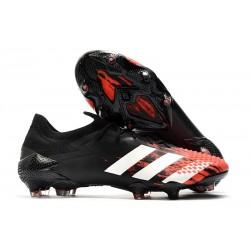 Crampons Adidas Predator Mutator 20.1 Low FG Noir Rouge Blanc