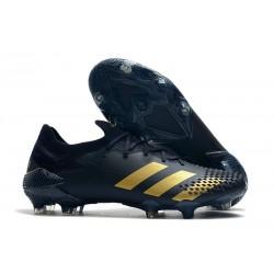 Crampons Adidas Predator Mutator 20.1 Low FG Noir Or