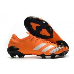 Crampons Adidas Predator Mutator 20.1 Low FG Orange Blanc Noir