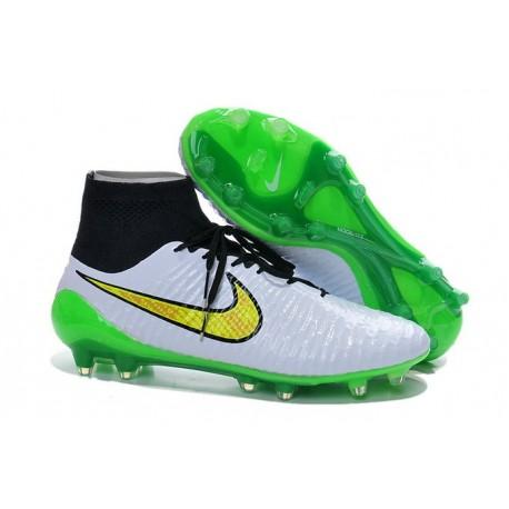 Coupe du Monde 2015 Chaussures Mercurial Magista Obra FG Blanc Vert Noir Jaune