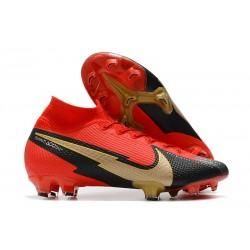 Nike Mercurial Superfly VII Elite FG Rouge Noir Or