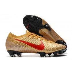 Nouvelles Nike Mercurial Vapor 13 Elite FG Or Rouge