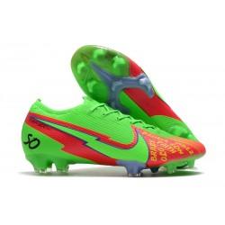 Nouvelles Nike Mercurial Vapor 13 Elite FG Vert Rouge