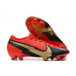 Nouvelles Nike Mercurial Vapor 13 Elite FG Rouge Noir Or