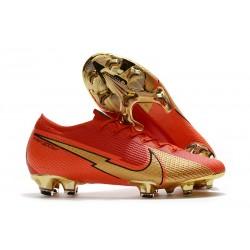 Nouvelles Nike Mercurial Vapor 13 Elite FG Ronaldo CR100 Rouge Or