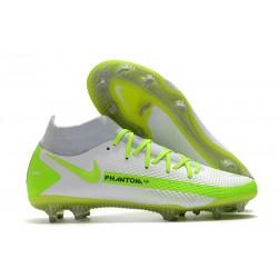 Chaussures 2021 Nike Phantom GT Elite DF FG Blanc Vert
