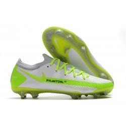 Nike Crampon 2021 Phantom GT Elite FG Blanc Vert