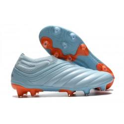 Chaussures Foot adidas Copa 20+ FG - Ciel Bleu Royal Corail