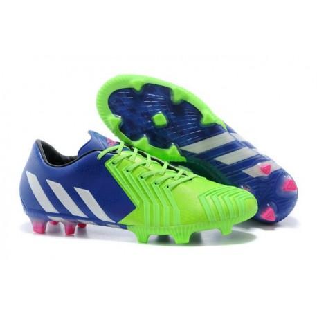 Chaussures Adidas Predator Instinct FG Bleu Blanc Vert