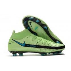 Chaussures 2021 Nike Phantom GT Elite DF FG Vert Noir