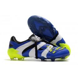 Chaussure Adidas Predator Accelerator FG Bleu Blanc Vert
