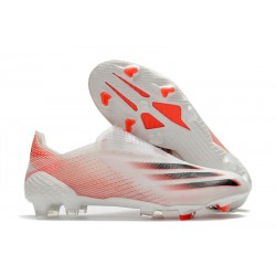 Crampon de Foot adidas X Ghosted+ FG Blanc Rouge Noir