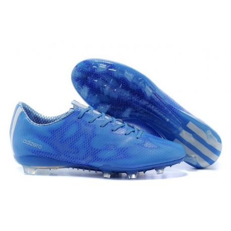 Chaussure Homme Adidas F50 Adizero Messi TRX FG Blanc Bleu