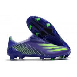Crampon de Foot adidas X Ghosted+ FG Violet Vert
