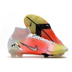 Chaussure à Crampons Nike Mercurial Superfly 8 Elite FG Blanc Mangue