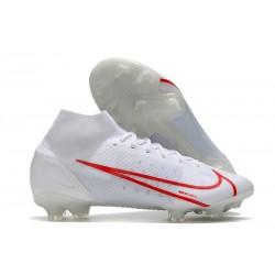Nike Mercurial Superfly VIII Elite DF FG Blanc Rouge