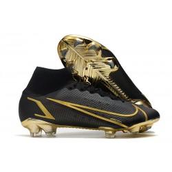 Chaussure à Crampons Nike Mercurial Superfly 8 Elite FG Noir Or
