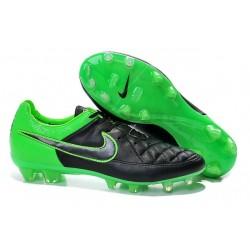 Nouvelle Chaussure de Football Nike Tiempo Legend V FG Noir Vert