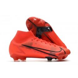 Chaussure à Crampons Nike Mercurial Superfly 8 Elite FG Rouge Noir