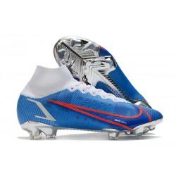 Chaussure à Crampons Nike Mercurial Superfly 8 Elite FG Bleu Blanc Rouge