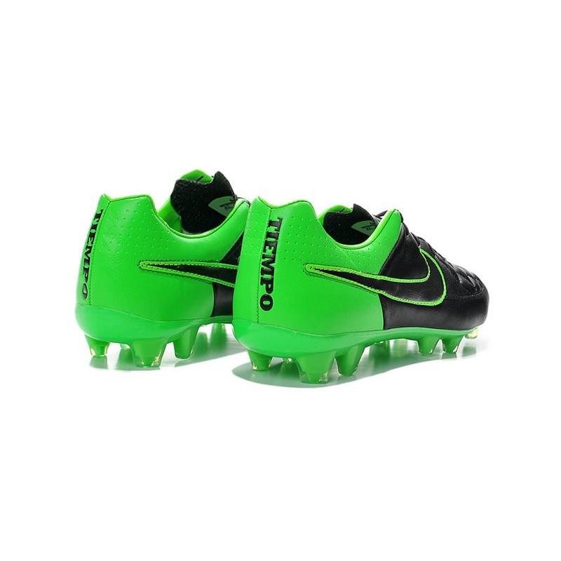 Nouvelle Chaussure de Football Nike Tiempo Legend V FG Noir Vert Zoom.  Précédent. Suivant